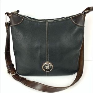 ☮️ Dooney & Bourke hobo handbag black brown purse